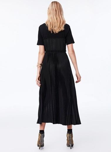 Ipekyol Polo Yaka Piliseli Elbise Siyah